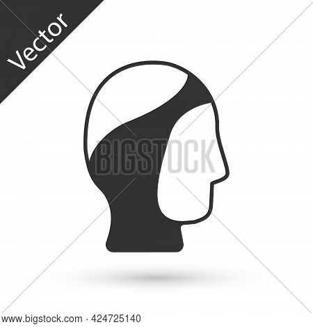 Grey Diving Hood Icon Isolated On White Background. Spearfishing Hat Winter Swim Hood. Diving Underw