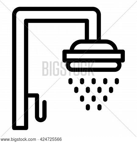 Shower Head Bathing Icon. Outline Shower Head Bathing Vector Icon For Web Design Isolated On White B