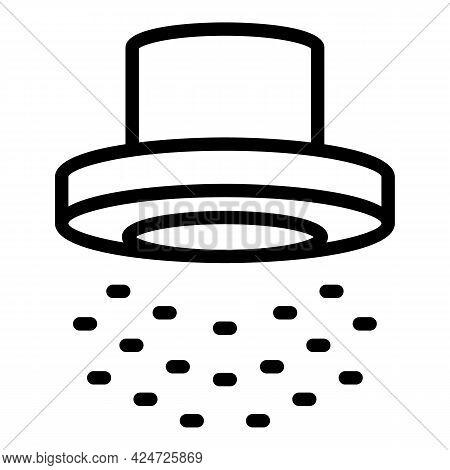 Shower Head Splash Icon. Outline Shower Head Splash Vector Icon For Web Design Isolated On White Bac