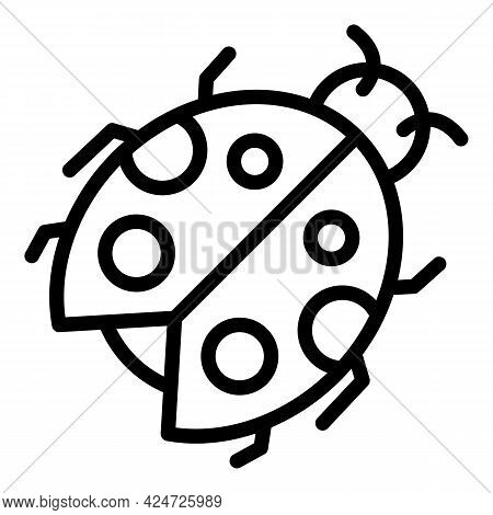 Ladybird Icon. Outline Ladybird Vector Icon For Web Design Isolated On White Background