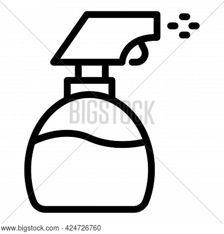 Spray Bottle Housework Icon. Outline Spray Bottle Housework Vector Icon For Web Design Isolated On W