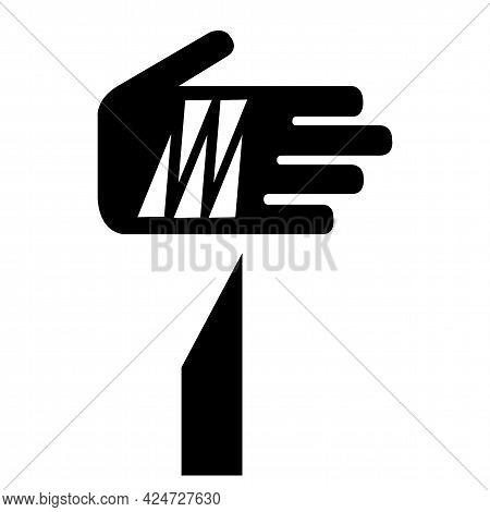 Beware Sharp Elements Symbol Isolate On White Background,vector Illustratio