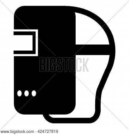 Symbol Wear Welding Helmet Isolate On White Background,vector Illustration Eps.10