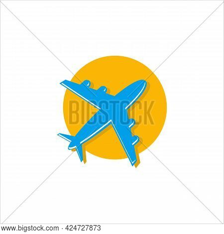 Summer Travel Logo Icon Vector Template, Vector Logo Design Templates For Airlines