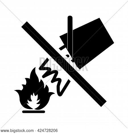 Water To Extinguish The Fire On White Background