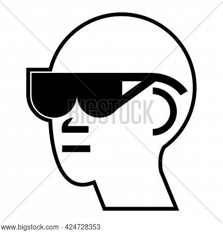 Symbol Please Remove Take Off Glasses On White Background