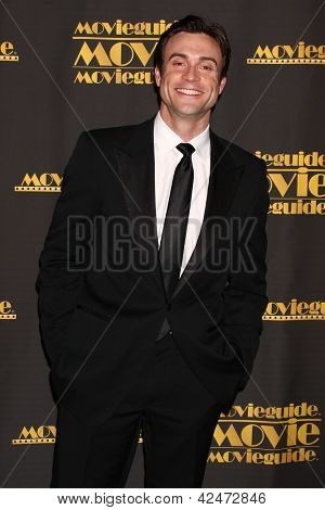 LOS ANGELES - FEB 15:  Daniel Goddard arrives at the 2013 MovieGuide Awards at the Universal Hilton Hotel on February 15, 2013 in Los Angeles, CA