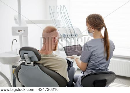 Modern Treatment In Professional Dental Clinic. Dentist's Office