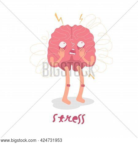 Stress Character. Medical Pictogram. Stressful Emotion Sign.