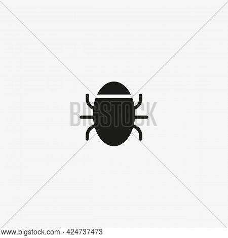 Software Bug Or Program Bug Art Vector Icon For Apps And Websites. Insect Symbol.