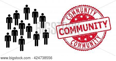People Crowd Icon On A White Background. Isolated People Crowd Symbol With Flat Style.