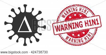 Delta Coronavirus Icon On A White Background. Isolated Delta Coronavirus Symbol With Flat Style.