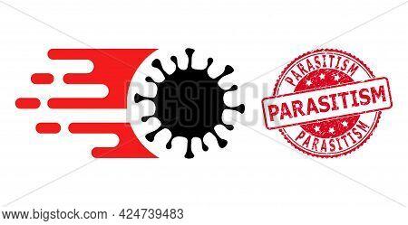 Rush Virus Icon On A White Background. Isolated Rush Virus Symbol With Flat Style.