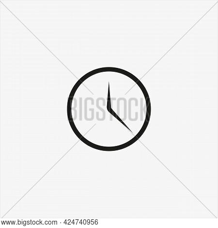 Clock Icon In Trendy Ui Style Isolated On Background. Clock Icon Page Symbol For Your Web Site Desig
