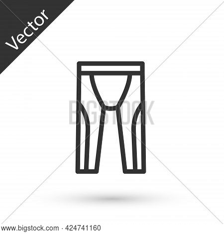 Grey Line Wetsuit For Scuba Diving Icon Isolated On White Background. Diving Underwater Equipment. V