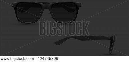 Sunglasses Closeup, Polarized Geek Glasses, Hipster Sun Lens Ocular. Fashion Accessory. Isolated On