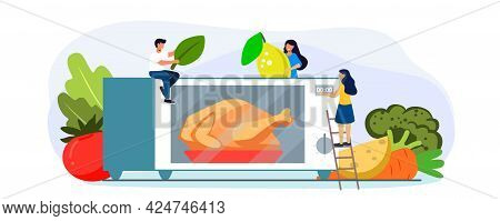 Microwave Oven With Closed Door And Microwave Oven With Chicken Electronic Chicken Roaster Oven Fast
