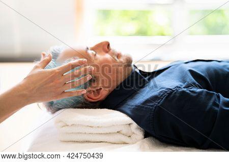 Reiki Therapy Alternative Healing Massage For Man