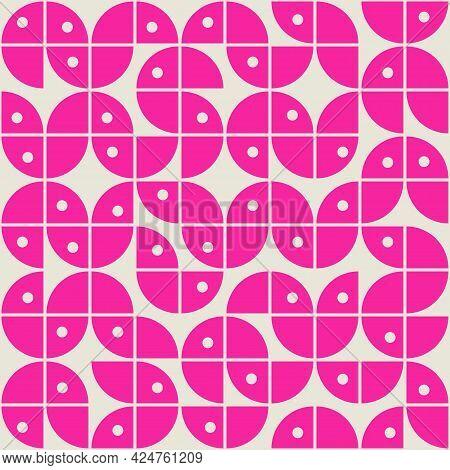 Mid Century Modern Memphis Style Abstract Seamless Pattern Vector Illustration Design.