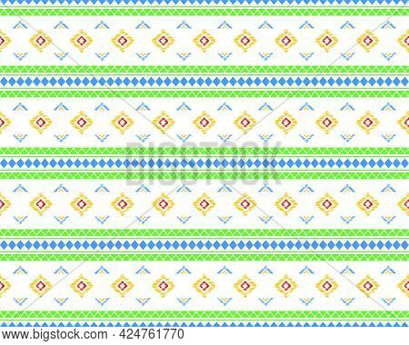 Geometric Ethnic Seamless Pattern Elements Collection Design For The Background. Can Use Design For