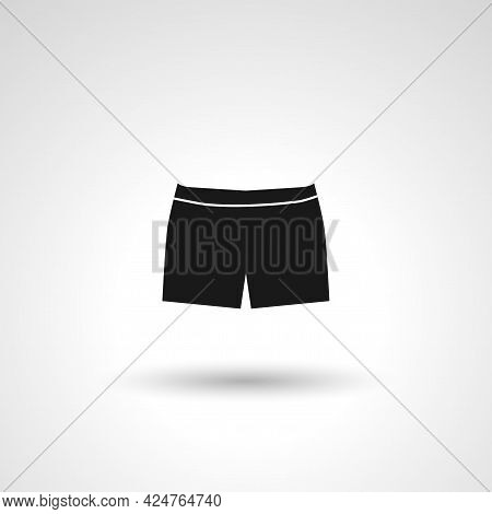 Shorts Sign. Shorts Isolated Simple Vector Icon