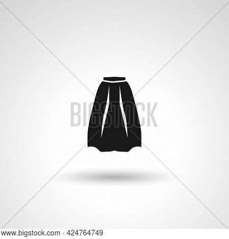Skirt Sign. Skirt Isolated Simple Vector Icon