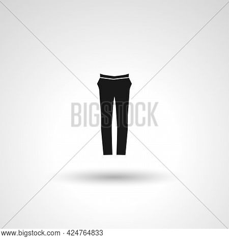 Trousers Sign. Trousers Isolated Simple Vector Icon