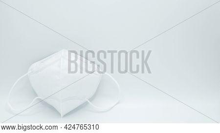 Anti-pollution Mask On White Background. Protection White Medical Face Mask For Epidemic Coronavirus