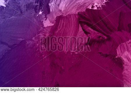 Magenta oil paint brushstroke patterned background