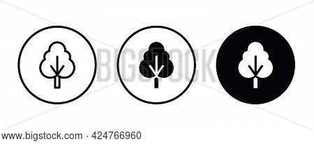 Tree Icon, Forest Icons Button, Vector, Sign, Symbol, Logo, Illustration, Editable Stroke, Flat Desi