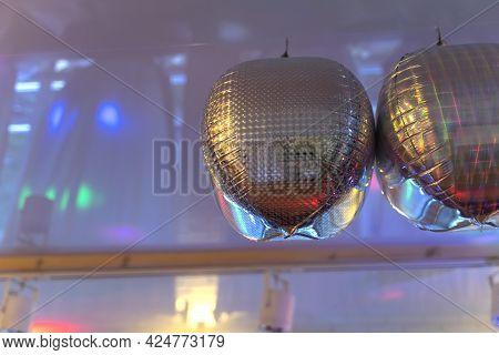 Festive Decor Under The Ceiling Of The Nightclub.