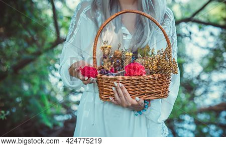 Magic Of Candles, Magical Attributes, Herbs And Flowers, Slavic/ Wicca Rituals And Esoteric Concept