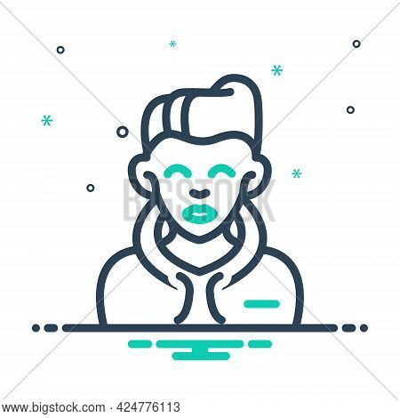 Mix Icon For Boy Bloke Lad Youngster Juvenile Youthful