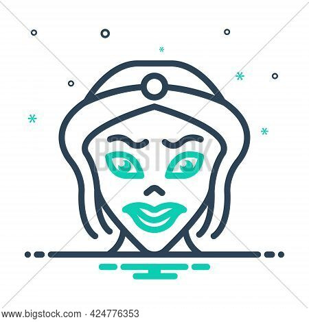 Mix Icon For Cartoon Caricature Parody Scary Lady