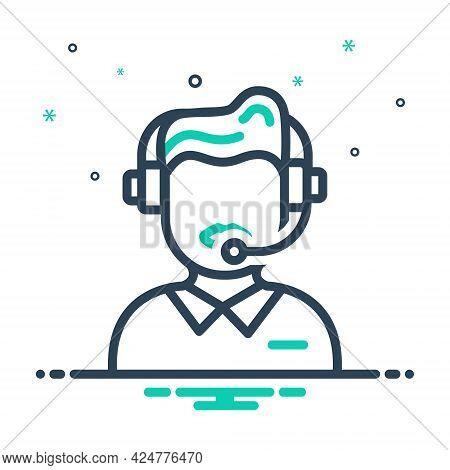 Mix Icon For Customer-service Customer Service Call-center Helpline Operator Consultant Telemarketin