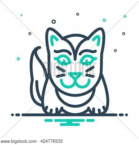 Mix Icon For Cute Lovable Sweet Charming Likable Cat