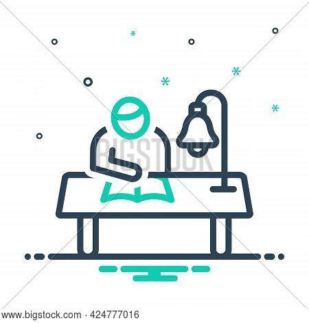 Mix Icon For Study Perusal Read Learn Cognize Understand