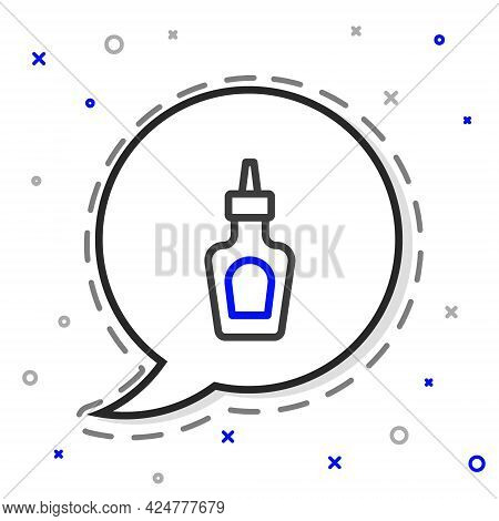 Line Sauce Bottle Icon Isolated On White Background. Ketchup, Mustard And Mayonnaise Bottles With Sa