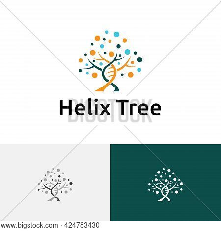 Double Helix Dna Tree Biology Science Research Logo
