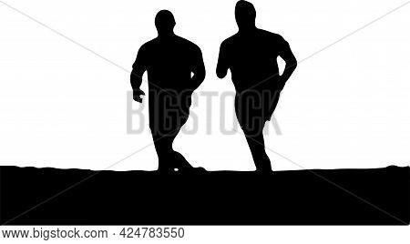 Running Vector Illustration On Background , Sport, Sprint, Sprinter