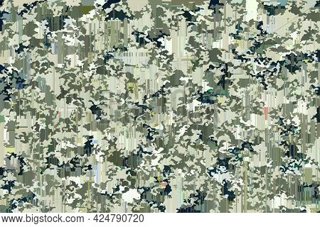 Abstract Military Background With Camouflage Pattern For Design
