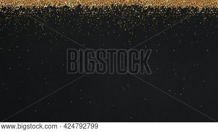 Dusty gold particles pattern background illustration