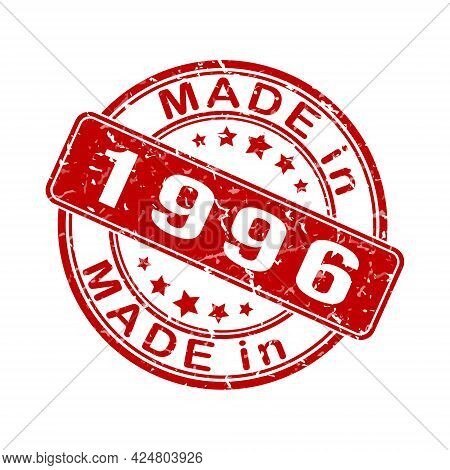An Imprint Of A Seal Or Stamp With The Inscription Made In 1996. Editable Vector Illustration. Label
