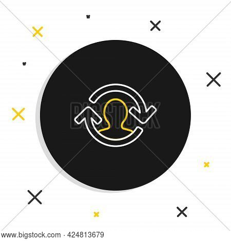Line Human Resources Icon Isolated On White Background. Concept Of Human Resources Management, Profe