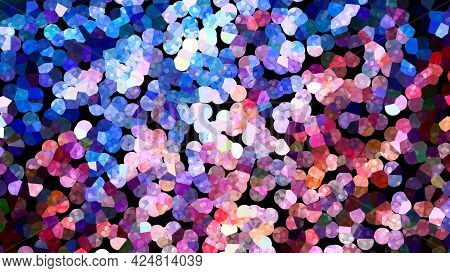 Colorful Glowing Pointillistic Abstract Artwork, Computer Generated Background, 3d Rendering