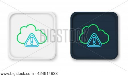 Line Storm Warning Icon Isolated On White Background. Exclamation Mark In Triangle Symbol. Weather I