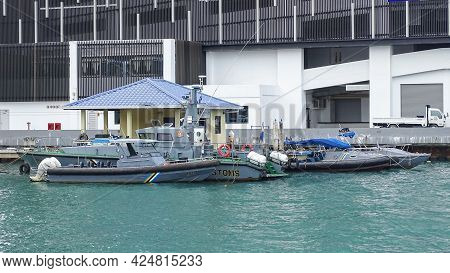 Kota Kinabalu,sabah-dec 20,2018:view Of Royal Malaysian Customs Boats,these Boats Form A Very Resour
