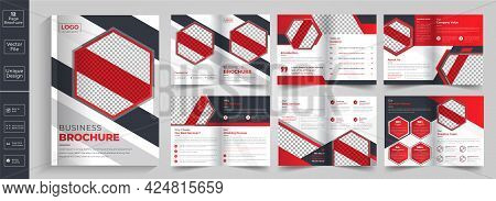 Minimal And Geometric Brochure Design, Brochure, Flyer, Magazine, Catalog Or Company Report, Lookboo