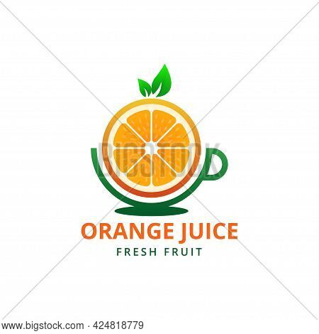 Fruit Juice Logo. Fresh Drink Logo Design Template