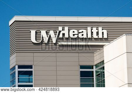 Uw Health University Hospital Exterior And Trademark Logo